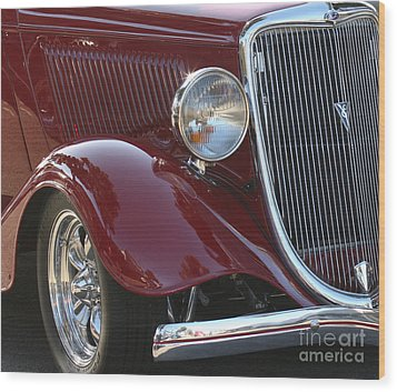 Classic Ford Car Wood Print