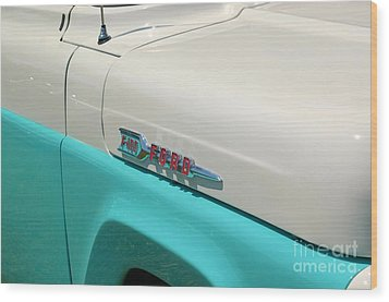 Classic Ford Wood Print by Patrick Shupert