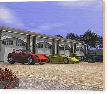 Classic Garage Wood Print by John Pangia