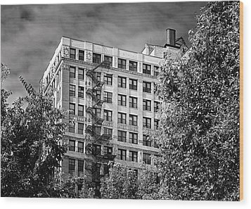 Classic Iron Fire Escape Chicago Il Wood Print by Christine Till