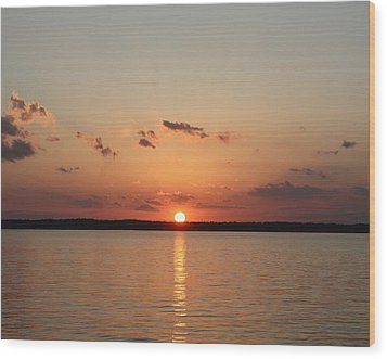 Classic Lake Sunset Wood Print