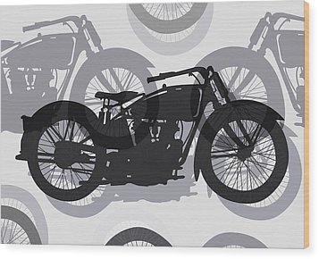 Classic Motorcycle  Wood Print by Daniel Hagerman