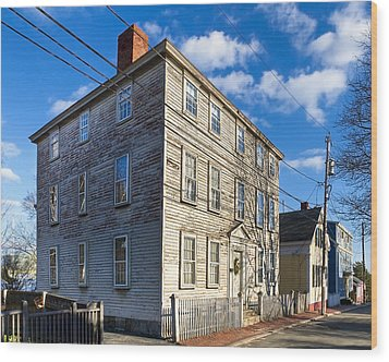 Classic New England Architecture Wood Print by Mark E Tisdale