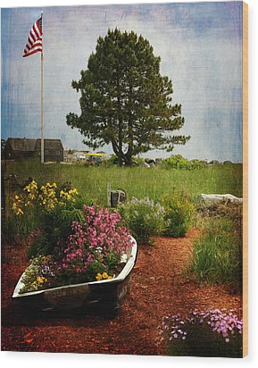 Classic New England Wood Print by Tricia Marchlik