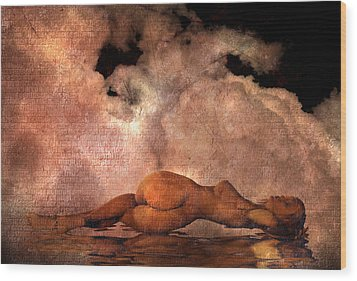 Classic Nude Wood Print by Bruce Rolff