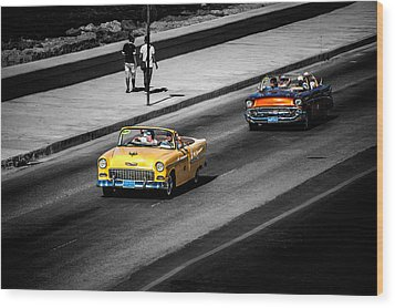 Classic Old Cars V Wood Print by Patrick Boening