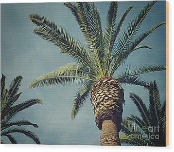 Classic Palms2 Wood Print by Meghan at FireBonnet Art