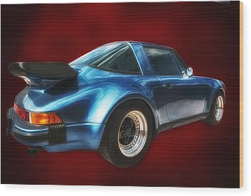 Wood Print featuring the photograph Classic Porsche ... by Chuck Caramella
