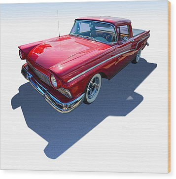 Wood Print featuring the photograph Classic Red Truck by Gianfranco Weiss