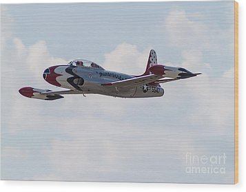 Classic Thunderbird Wood Print by Brandon Hussey