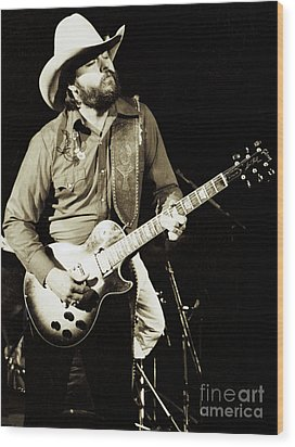 Classic Toy Caldwell Of The Marshall Tucker Band At The Cow Palace-new Years Concert  Wood Print