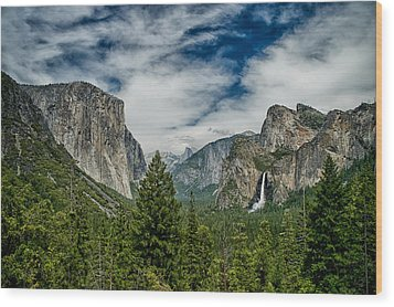 Classic Tunnel View Wood Print by Cat Connor