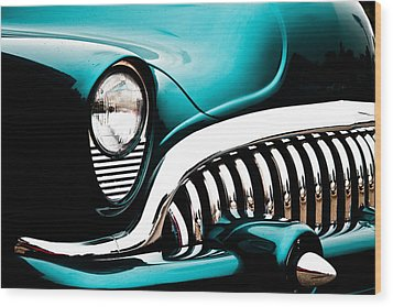 Wood Print featuring the photograph Classic Turquoise Buick by Joann Copeland-Paul