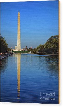 Classic Washington Wood Print by Olivier Le Queinec