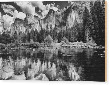 Classic Yosemite Wood Print by Cat Connor