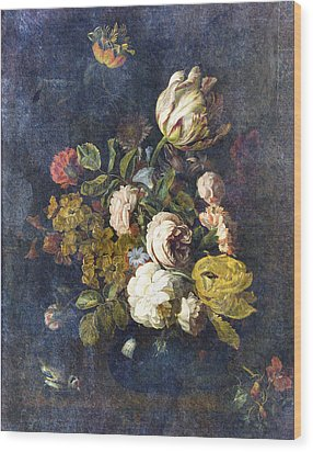 Classical Bouquet - S0104t Wood Print by Variance Collections