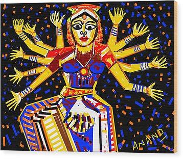 Classical Dancer Wood Print by Anand Swaroop Manchiraju