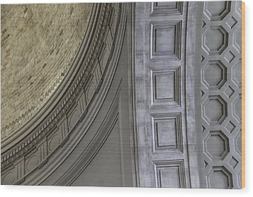 Classical Dome And Vault Details Wood Print by Lynn Palmer
