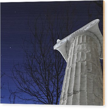 Classical Evening Wood Print by Stellina Giannitsi