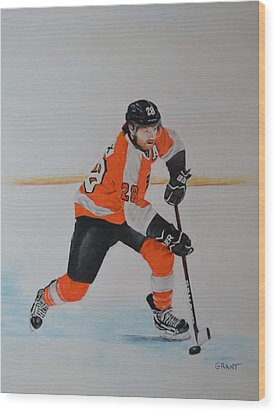 Claude Giroux Philadelphia Flyer Wood Print
