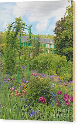 Claude Monet House And Garden At Giverny Wood Print by Heidi Hermes