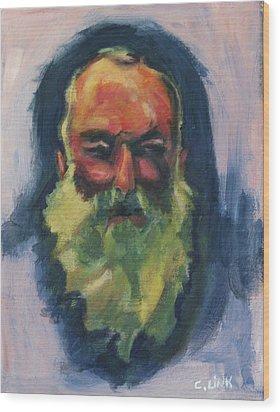 Claude Monet Self Portrait Wood Print