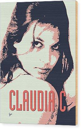 Claudia C Wood Print by Chungkong Art