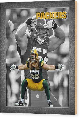 Clay Matthews Packers Wood Print