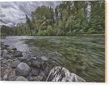 Cle Elum River Wood Print