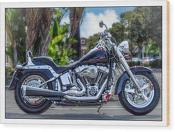 Wood Print featuring the photograph Clean Looking Harley by Steve Benefiel