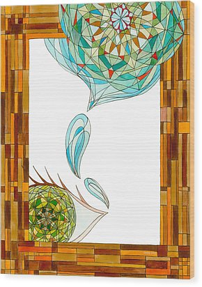 Wood Print featuring the drawing Cleansing Tears by Dianne Levy