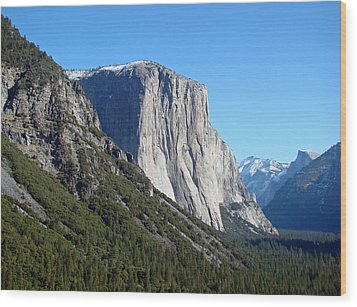 Wood Print featuring the photograph Eternal Yosemite by Walter Fahmy