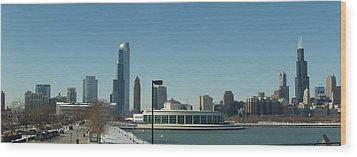 Wood Print featuring the photograph Clear Cold Chicago Day by Teresa Schomig