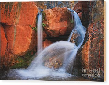 Clear Creek Falls Wood Print by Inge Johnsson