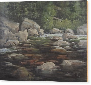 Clear Creek Wood Print by Mar Evers