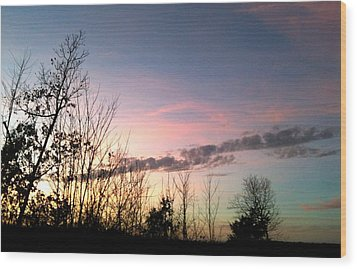Wood Print featuring the photograph Clear Evening Sky by Linda Bailey