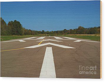 Wood Print featuring the photograph Clear For Take Off by Julie Clements