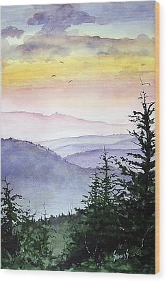 Clear Mountain Morning II Wood Print by Sam Sidders