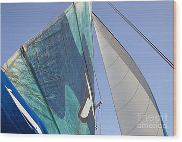 Clear Skies And Full Sails Wood Print by Jennifer Apffel