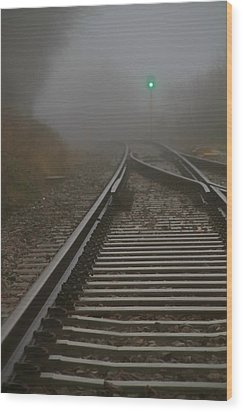Clear Track Wood Print by Odd Jeppesen