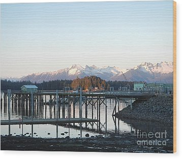 Wood Print featuring the photograph Clear Winter's Day by Laura  Wong-Rose