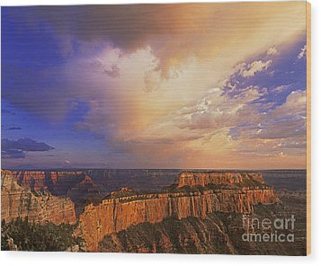 Clearing Storm Cape Royal North Rim Grand Canyon Np Arizona Wood Print