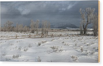 Clearing Storm In The Tetons Wood Print by Sandra Bronstein