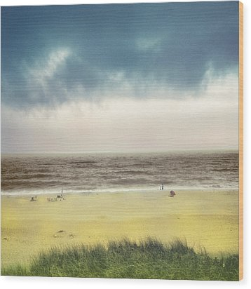 Clearing Storm Montauk  Wood Print by Dave Beckerman