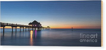 Clearwater Beach Pier Wood Print