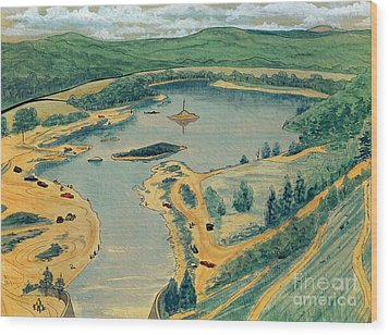 Wood Print featuring the painting Clearwater Lake Early Days by Kip DeVore