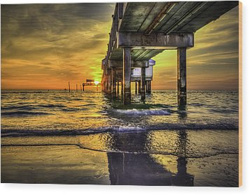 Clearwater Pier Wood Print by Marvin Spates