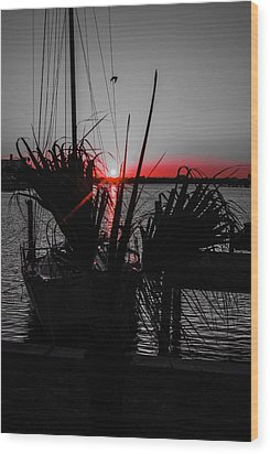 Clearwater Sunrise Wood Print