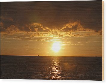 Wood Print featuring the photograph Clearwater Sunset by Ivete Basso Photography