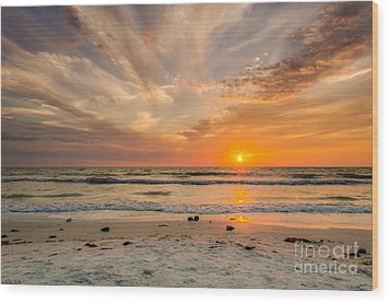 Clearwater Sunset Wood Print by Mike Ste Marie